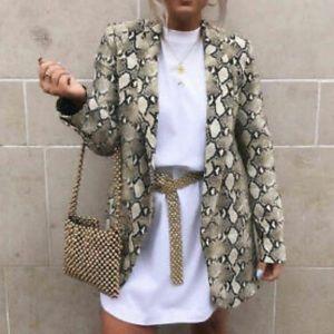 Zara Snakeskin Blazer size S